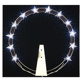 Aureola luminosa LED ottone dorato diam. 30 cm s2