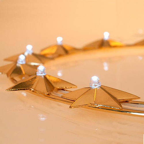 Aureola luminosa LED ottone dorato diam. 30 cm 4