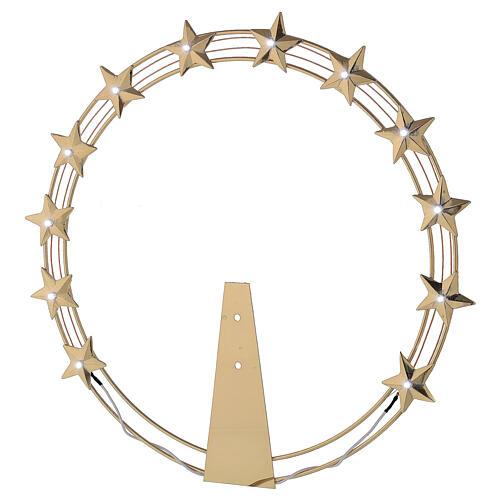 Aureola luminosa LED ottone dorato diam. 30 cm 1