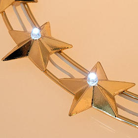 Luminous Starry Halo in Gilded Brass with LEDs, 30 cm diameter s3
