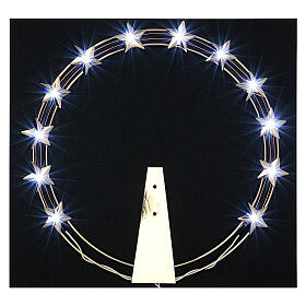 Luminous Starry Halo in Gilded Brass with LEDs, 30 cm diameter s2