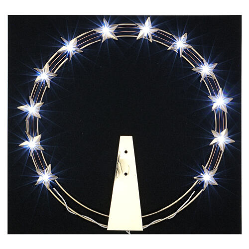 Luminous Starry Halo in Gilded Brass with LEDs, 30 cm diameter 2