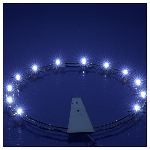 Luminous Starry Halo in Gilded Brass with LEDs, 30 cm diameter 4