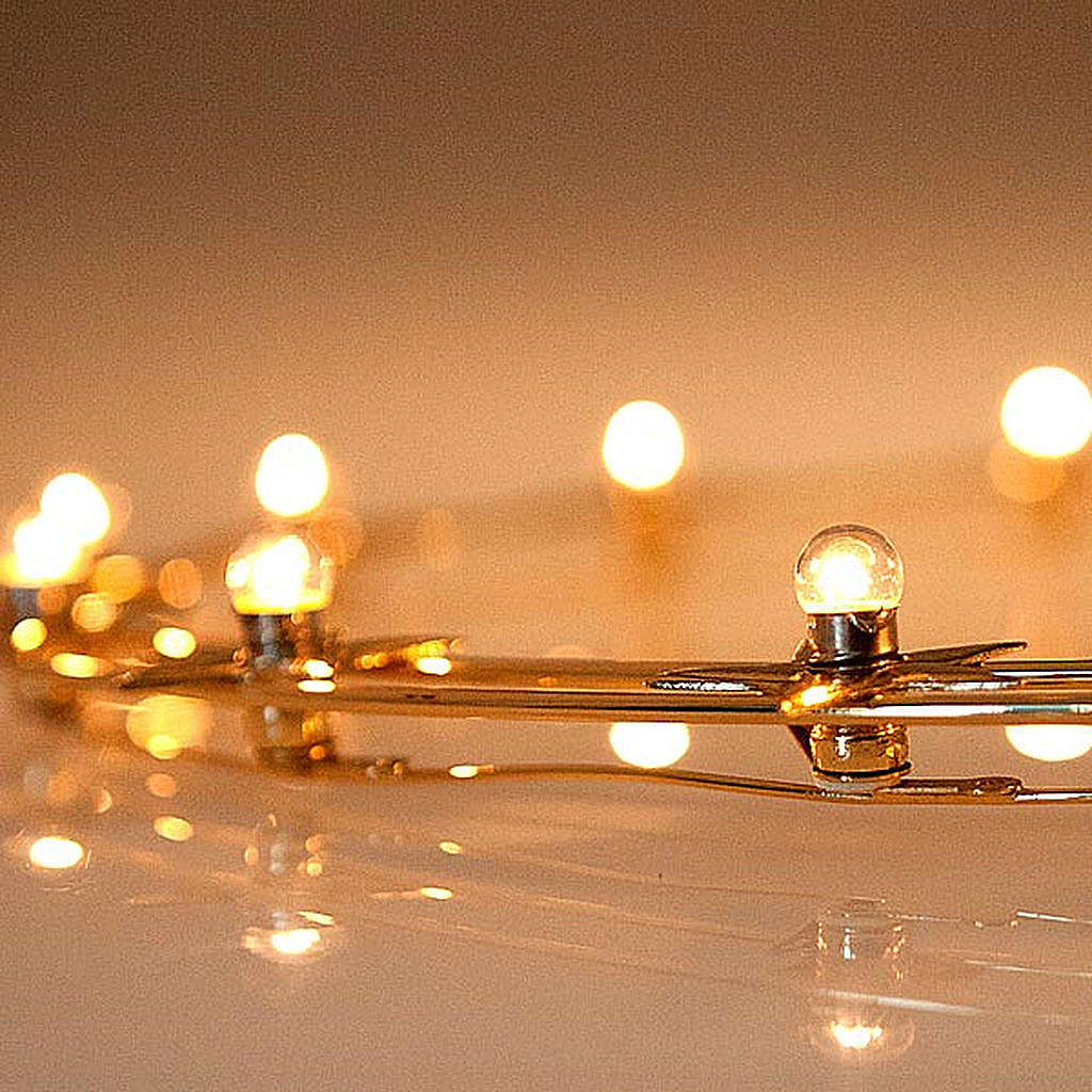 Heiligenschein leuchtende Lampen vergoldete Messing 40 Zentimete 3