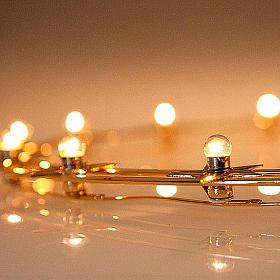 Corona luminosa latón dorado 40 cm diámetro s3