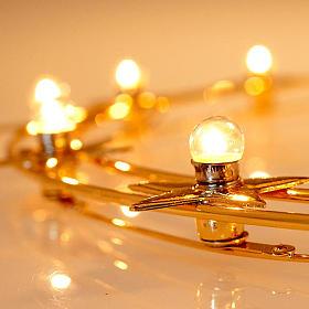Corona luminosa latón dorado 40 cm diámetro s4
