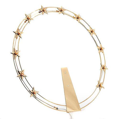 Corona luminosa latón dorado 40 cm diámetro 1