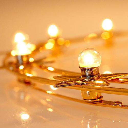 Corona luminosa latón dorado 40 cm diámetro 4