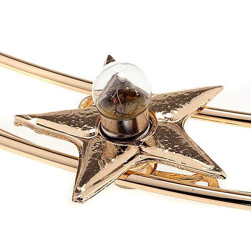 Corona luminosa latón dorado 40 cm diámetro 5