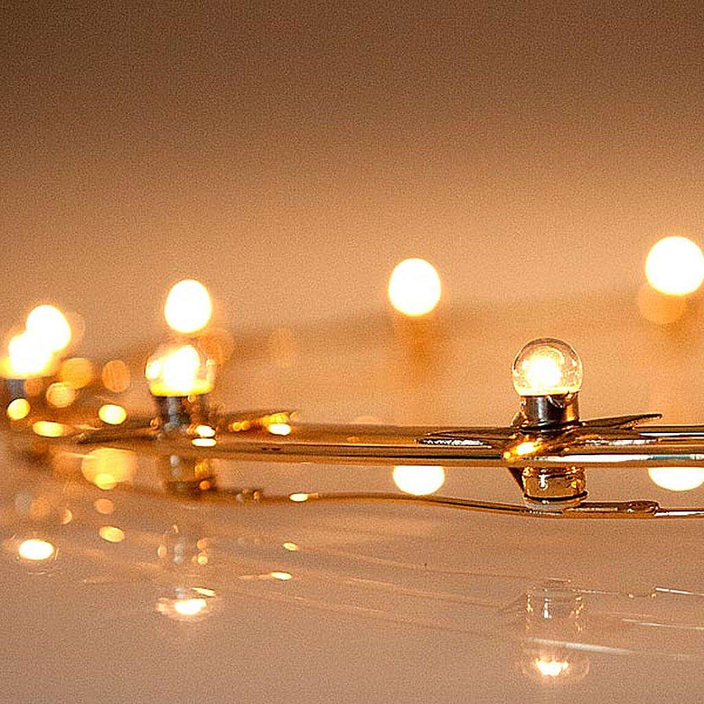 Aureola luminosa Lampadine ottone dorato diam. 40 cm 3