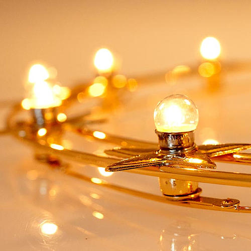 Aureola luminosa Lampadine ottone dorato diam. 40 cm 4