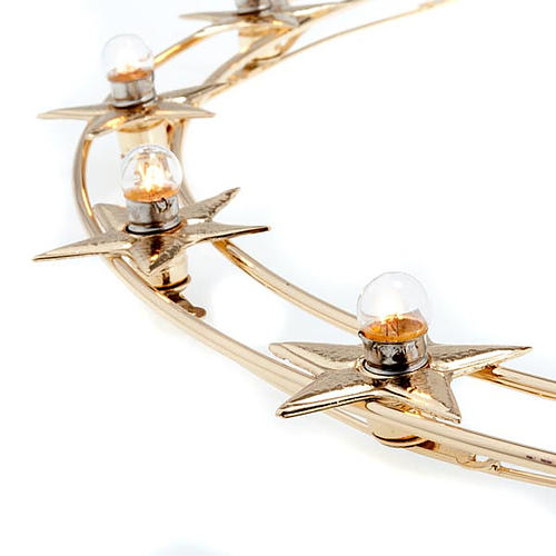 Aureola podświetlana żarówki mosiądz pozłacany śr. 40 cm 2