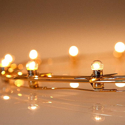 Aureola podświetlana żarówki mosiądz pozłacany śr. 40 cm 3
