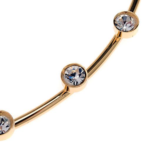 Corona para Santos latón dorado y cristales 2