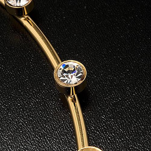 Corona para Santos latón dorado y cristales 3