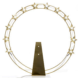 Luminous halo in gold-plated brass with LED lights s1