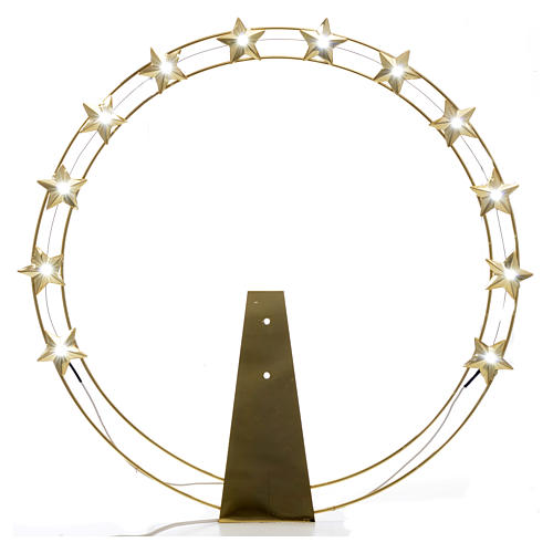 Luminous halo in gold-plated brass with LED lights 1