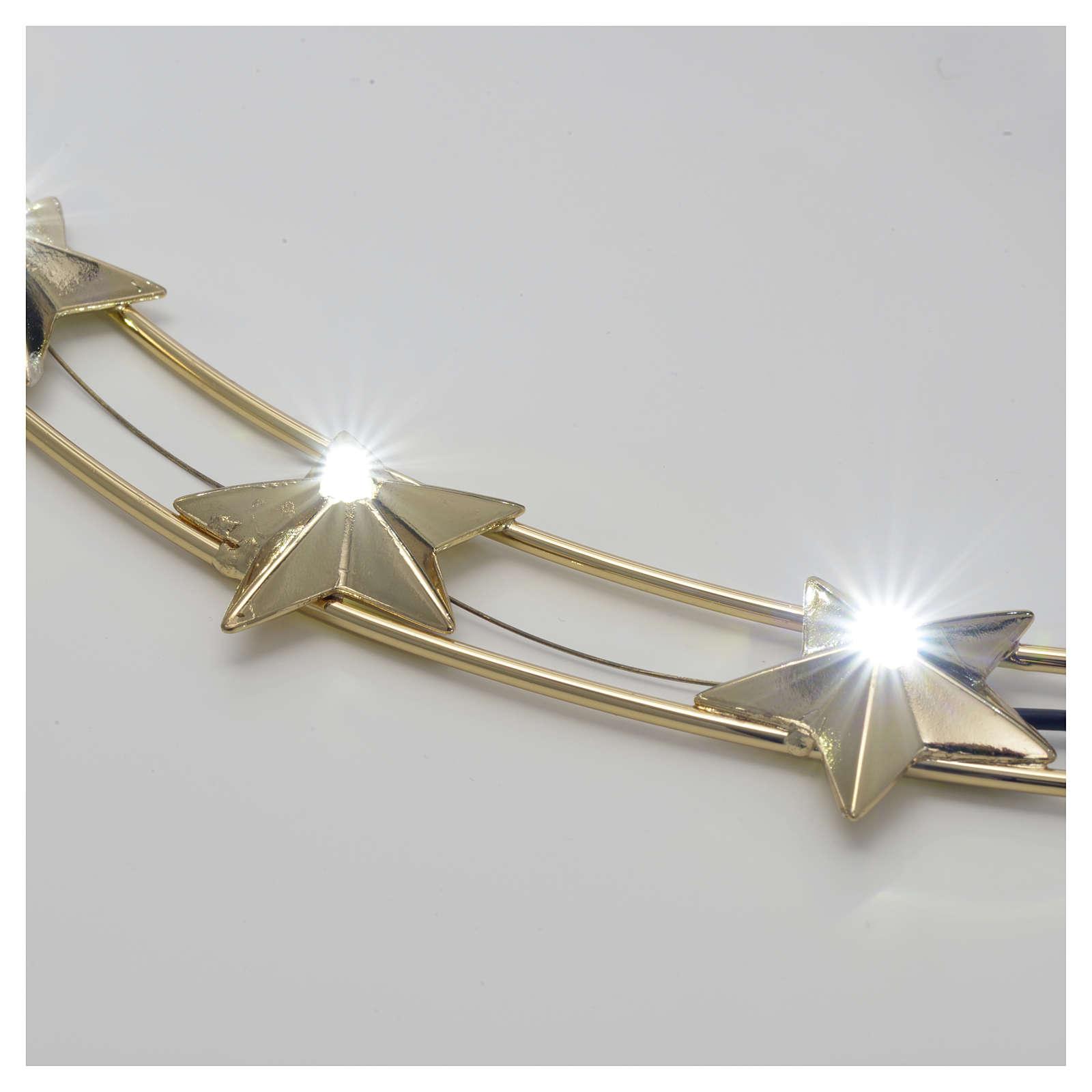 Aureola Estrella con LED en latón 40 cm 3
