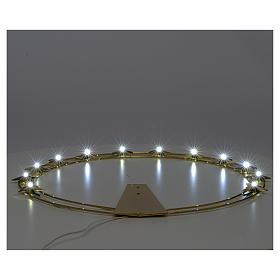 Auréole d'étoiles avec LED en laiton 40cm s3