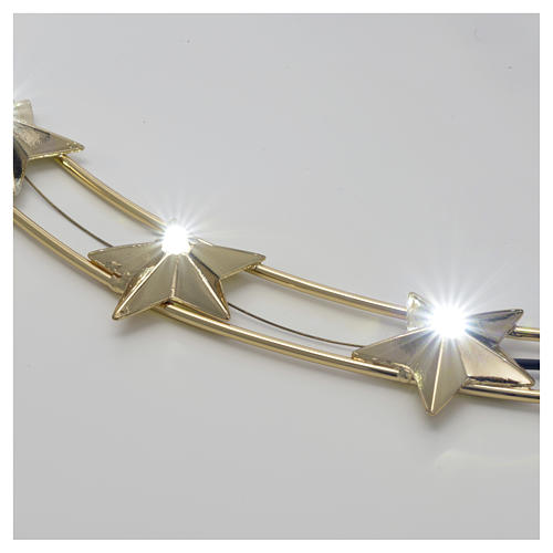 Auréole d'étoiles avec LED en laiton 40cm 2