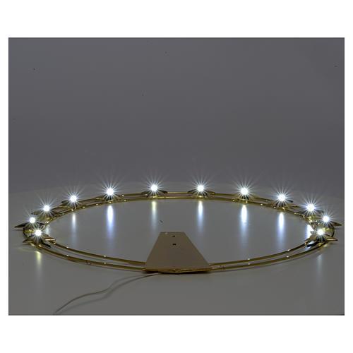 Auréole d'étoiles avec LED en laiton 40cm 3