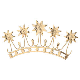 Crown for statues in gold plated filigree and color stones s7