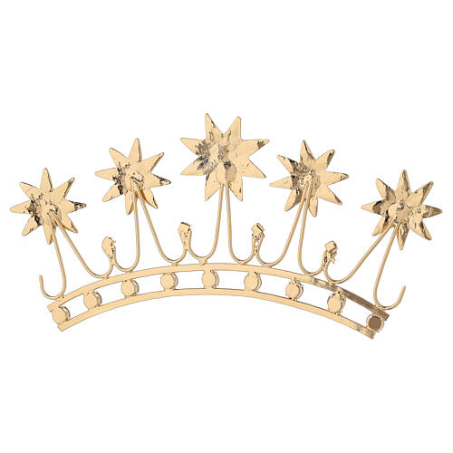 Crown for statues in gold plated filigree and color stones 7