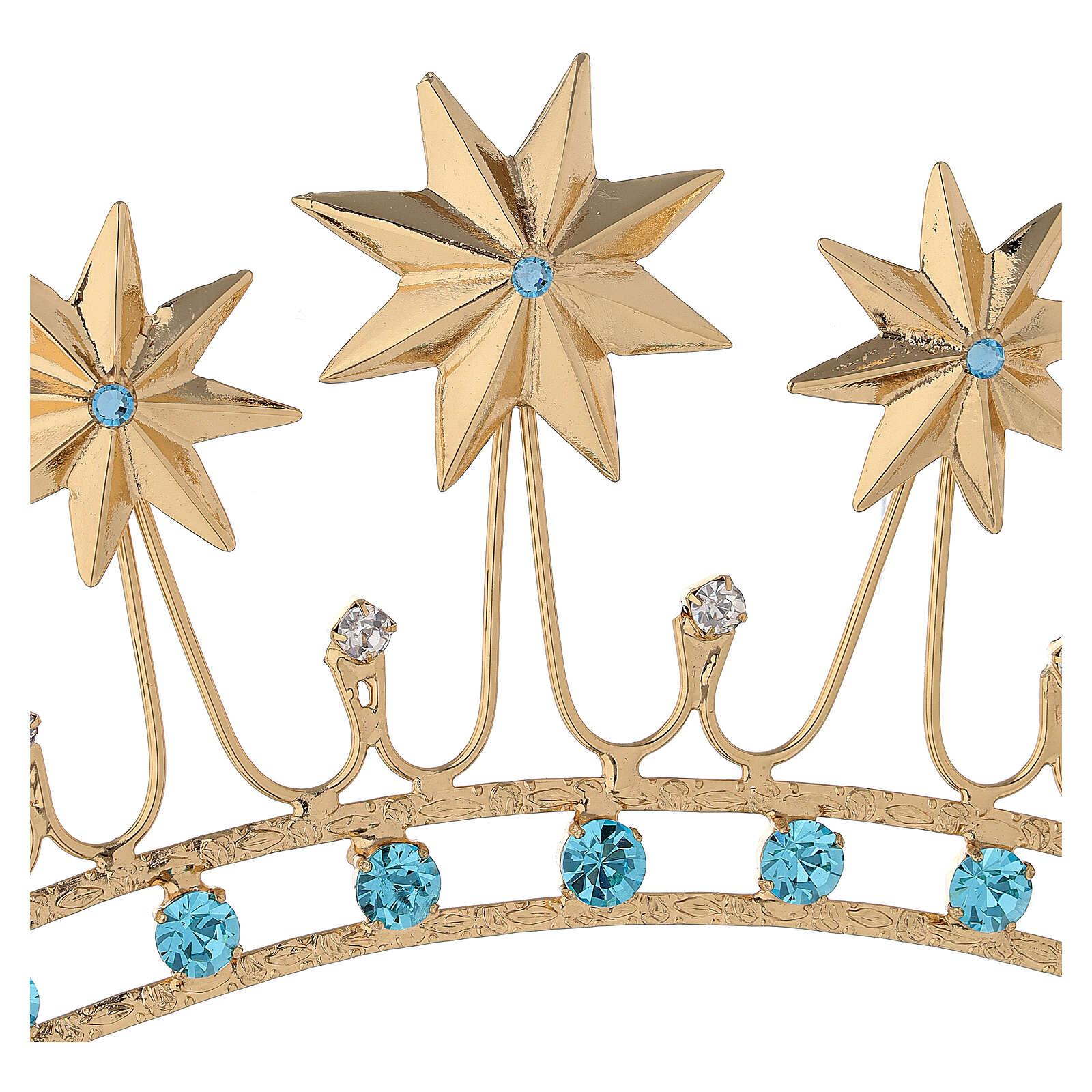 Corona en latón filigrana dorado 3