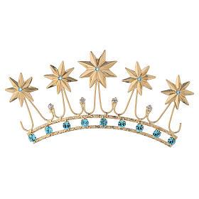 Corona en latón filigrana dorado s1