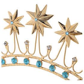 Corona en latón filigrana dorado s2