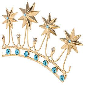 Corona en latón filigrana dorado s4