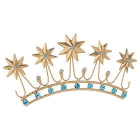 Corona en latón filigrana dorado s5