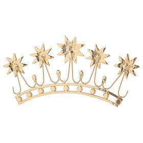 Corona en latón filigrana dorado s7