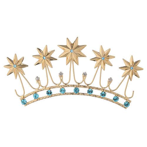 Corona en latón filigrana dorado 1