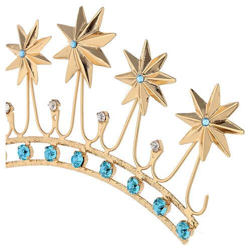 Corona en latón filigrana dorado 4