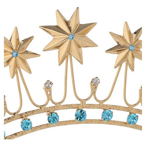 Corona en latón filigrana dorado 6