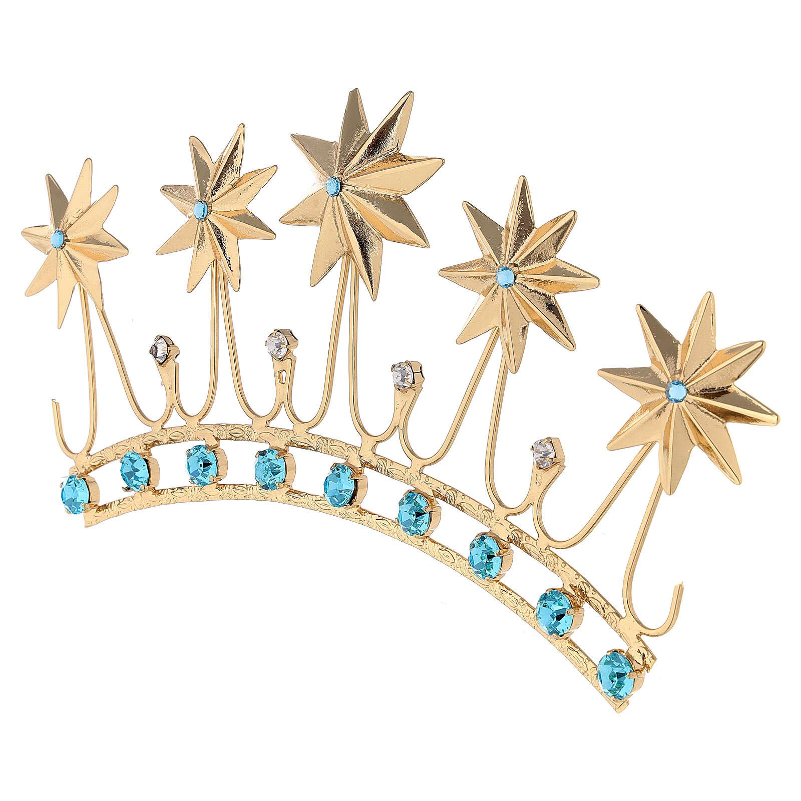 Corona in ottone dorato 3