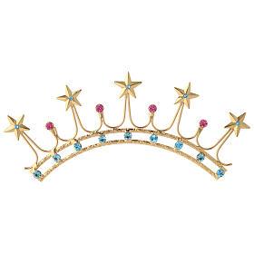 Corona in ottone filigrana oro s1