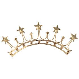 Corona in ottone filigrana oro s5