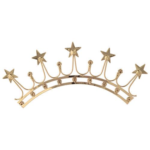 Corona in ottone filigrana oro 5