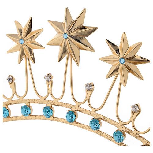Corona in ottone dorato 2