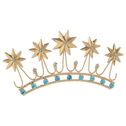 Corona in ottone dorato 5