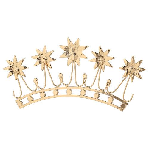 Corona in ottone dorato 7