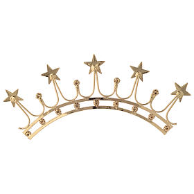 Crown for Statues in Gold Plated Filigree with Color Stones s5