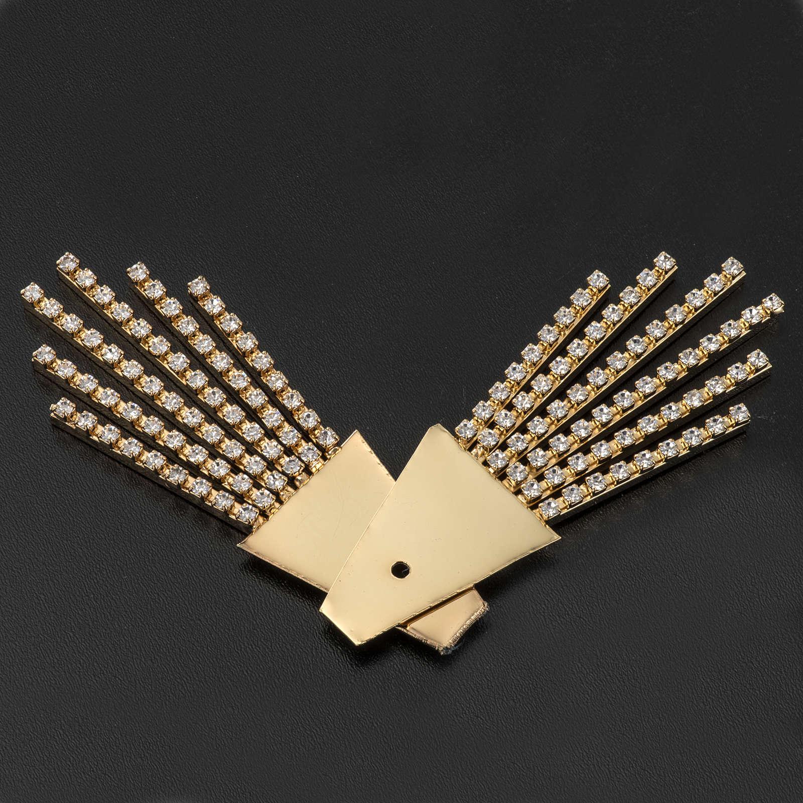 Raggiera ottone filigrana oro con Swarovski 3