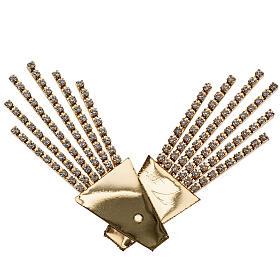 Raggiera ottone filigrana oro con Swarovski s2
