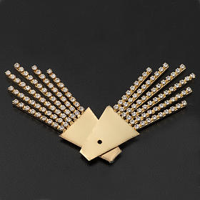 Raggiera ottone filigrana oro con Swarovski s4