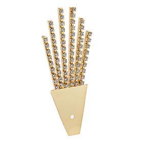 Raggiera ottone filigrana oro con Swarovski s3