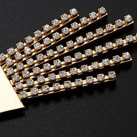 Raggiera ottone filigrana oro con Swarovski s8