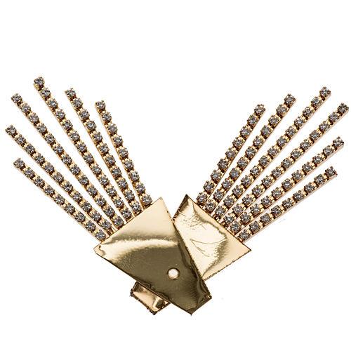 Raggiera ottone filigrana oro con Swarovski 2
